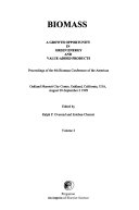 Biomass  a Growth Opportunity in Green Energy and Value added Products   Proceedings of the 4th Biomass Conference of the Americas