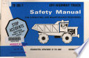 Safety Manual for Operating and Maintenance Personnel