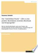 """Das """"Antebellum Puzzle"""" - Gibt es eine positive Korrelation zwischen Reichtum und Körpergröße?  : Reiche Akademikerkinder und arme Farmer: der Zusammenhang zwischen Einkommen, Urbanisierung und Körpergröße in den USA des 19. Jahrhunderts"""
