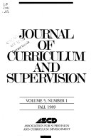 Journal of Curriculum and Supervision Book