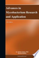 Advances in Mycobacterium Research and Application  2012 Edition