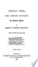 Leila Ada The Jewish Convert An Authentic Memoir 4th Ed