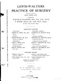 Lewis Walters Practice of Surgery Book