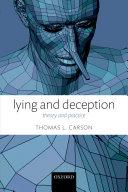 Lying and Deception Pdf/ePub eBook