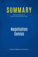 Summary: Negotiation Genius