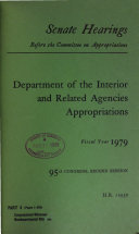 Department of the Interior and Related Agencies Appropriations for Fiscal Year 1979