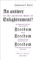 An Answer to the Question: 'What is Enlightenment?' Book