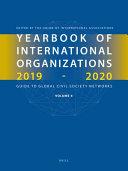 Yearbook Of International Organizations 2019 2020 Volume 4