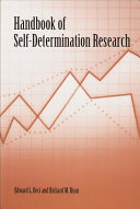 Handbook of Self-determination Research