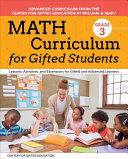 Math Curriculum for Gifted Students  Grade 3