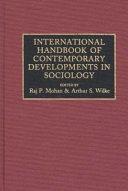 International Handbook of Contemporary Developments in Sociology