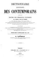 Dictionnaire universel des contemporains ...