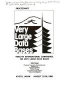 Proceedings  Very Large Data Bases