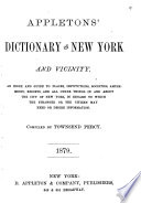 Appleton s Dictionary of New York and Its Vicinity