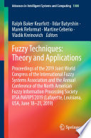 Fuzzy Techniques  Theory and Applications