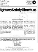 Highway Safety Literature