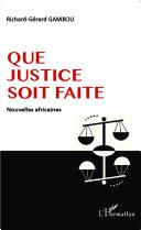 Que justice soit faite Pdf/ePub eBook