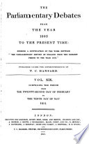 The Parliamentary Debates From The Year 1803 To The Present Time 22 Book PDF