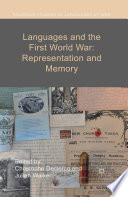 Languages and the First World War  Representation and Memory