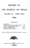 Report of the Bureau of Mines