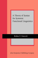 A Theory of Syntax for Systemic Functional Linguistics