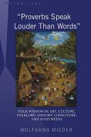 Proverbs Speak Louder Than Words
