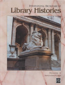 International Dictionary Of Library Histories