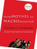 Micromotives and Macrobehavior
