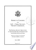 Report to Congress of the U.S.-China Security Review Commission