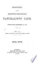 History of the Berwickshire Naturalists' Club, Instituted September 22, 1831 Pdf/ePub eBook