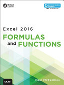 Excel 2016 Formulas and Functions  includes Content Update Program