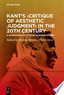 Kant S Critique Of Aesthetic Judgment In The 20th Century