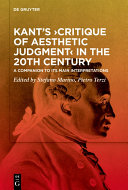 Kant's ›Critique of Aesthetic Judgment‹ in the 20th Century [Pdf/ePub] eBook