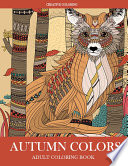 Autumn Colors Adult Coloring Book