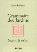 Grammaire des jardins