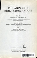 The Abingdon Bible Commentary