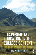 Pdf Experiential Education in the College Context Telecharger