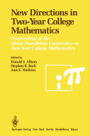 New Directions in Two-Year College Mathematics Pdf/ePub eBook