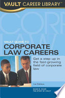 Vault Guide to Corporate Law Careers