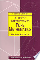 Cover of A Concise Introduction to Pure Mathematics, Second Edition