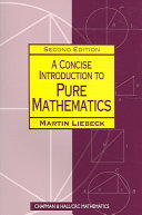 Pdf A Concise Introduction to Pure Mathematics, Second Edition