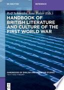 Handbook of British Literature and Culture of the First World War