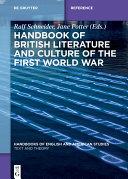 Handbook of British Literature and Culture of the First World War Pdf/ePub eBook
