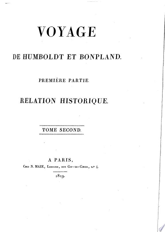 Voyage de Humboldt et Bonpland