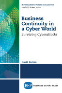 Business Continuity in a Cyber World Book