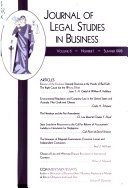 Journal of Legal Studies in Business - Band 6