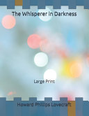 The Whisperer in Darkness Book Online