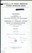 Hearings on the Veterans  Administration Vocational Rehabilitation Program