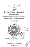 Journal of the Royal United Service Institution  , Band 18
