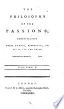 The Philosophy of the Passions